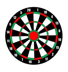 Dart board dart target isolated on white vector