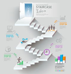 Business staircase thinking idea vector