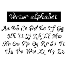 Type decorative alphabet vector
