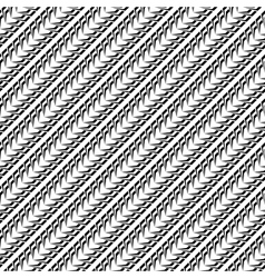 Design seamless monochrome diagonal pattern vector