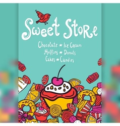 Sweet store background vector
