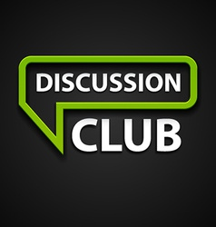 Discussion club icon vector