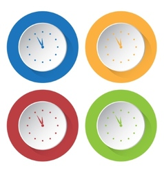 Set of four icons - with clock vector