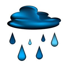 Cloud and rain drops icon vector