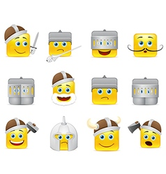 Smilies vikings and knights vector