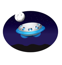 Alien spacecraft vector