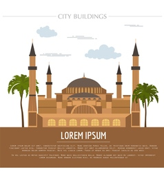 City buildings graphic template st sofia mosque vector