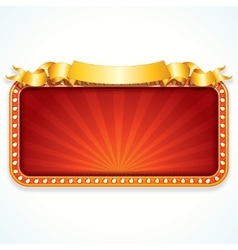 Theater marquee luxury sign vector