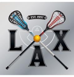 LAX Lacrosse Emblem vector image