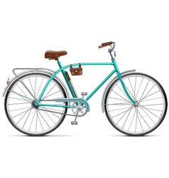 Bicycle with rounded frame vector