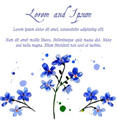 blue forget-me flowers vector image