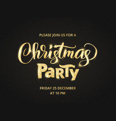 christmas party poster template vector image vector image