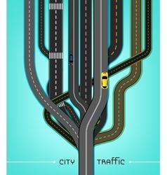 City traffic roads vector