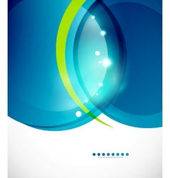 Detailed blue wavy abstract background vector image