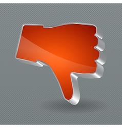 Dislike button vector image vector image