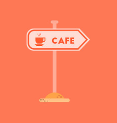 flat icon on background cafe sign vector image vector image