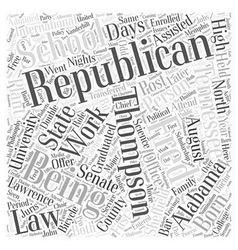 Fred Thompson Republican Word Cloud Concept vector image