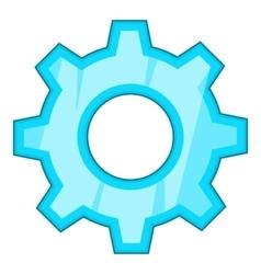 Gear icon cartoon style vector image