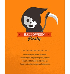 Halloween cute poster vector