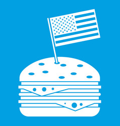 Hamburger icon white vector