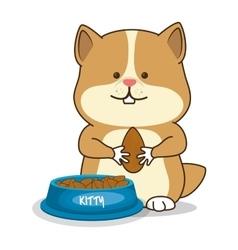 hamster pet shop icon vector image vector image