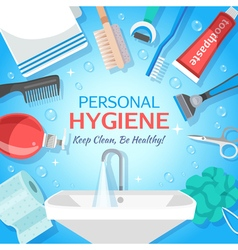 Healthy Personal Hygiene Background vector image