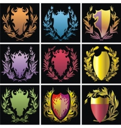 heraldry elements vector image vector image