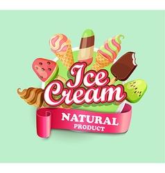 Ice cream emblem vector