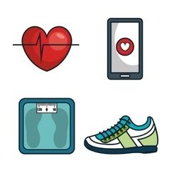 kit elements sport gym design vector image