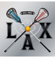 Lax lacrosse emblem vector