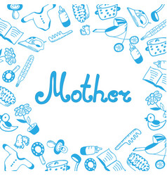 Mother day lettering childrens accessories vector