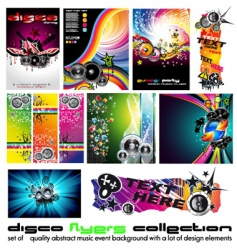 Music background set vector