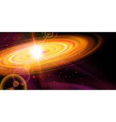 Orange galaxy vector