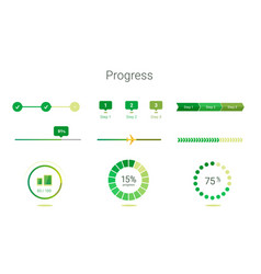 progress bar user interface design vector image vector image