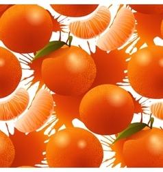 ripe mandarin pattern vector image