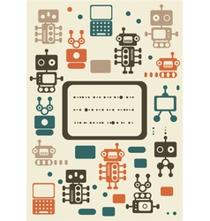 robotic poster vector image