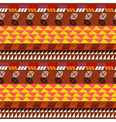 Seamless pattern with Aztec drawing vector image vector image
