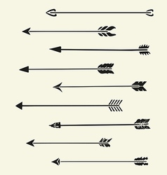 Set arrows vector image