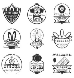 set of circus isolated labels logo and vector image vector image