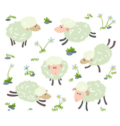 Sheeps set vector