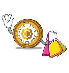 Shopping komodo coin character cartoon vector