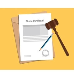 Signing legal concept of nurse paralel law vector
