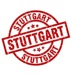 Stuttgart red round grunge stamp vector