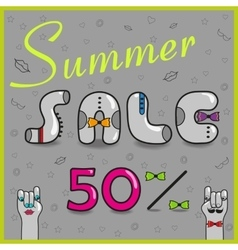 Summer sale fifty percents vector