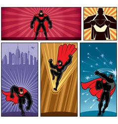 Superhero Banners 5 vector image vector image