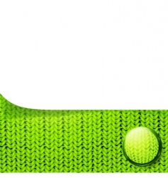 template over knitted pattern vector image