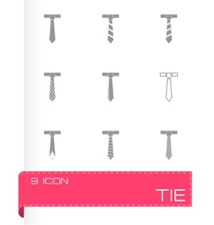 tie icon set vector image