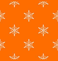 wheel of ship pattern seamless vector image vector image
