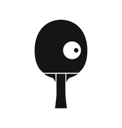 Rackets and ball for playing table tennis icon vector