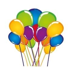 Festive balloon icon image vector